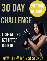 30 day challenge Pamflet (Letter AS) template