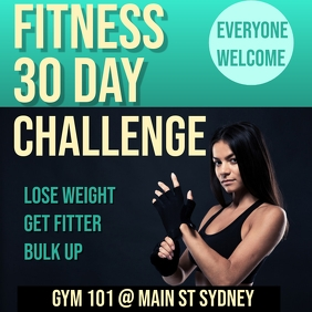 30 day challenge Instagram Plasing template