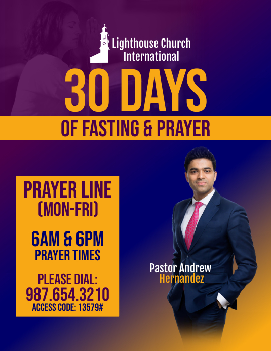 30 Days of Fasting & Prayer