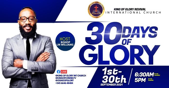 30 days of glory Gambar Bersama Facebook template