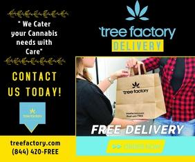 300 X 250 Cannabis Delivery Ad Persegi Panjang Sedang template