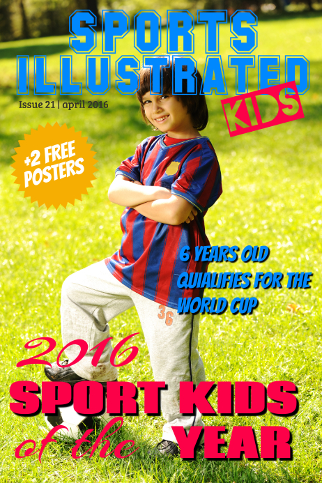 Sports Magazine Cover Template