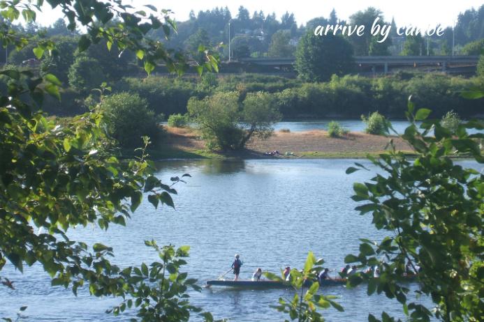 Row the Willamette -arrive by Canoe