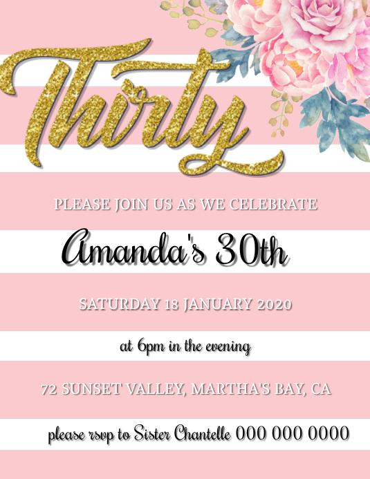 30th birthday invitation or 82 30th birthday invitations for him free