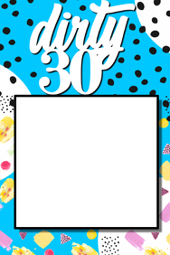 30th Birthday Party Prop Frame
