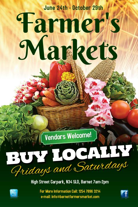 Farmers Market Poster Iphosta template