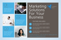 Marketing Services Postcard Template