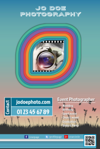Photographer brochure - Colorful design