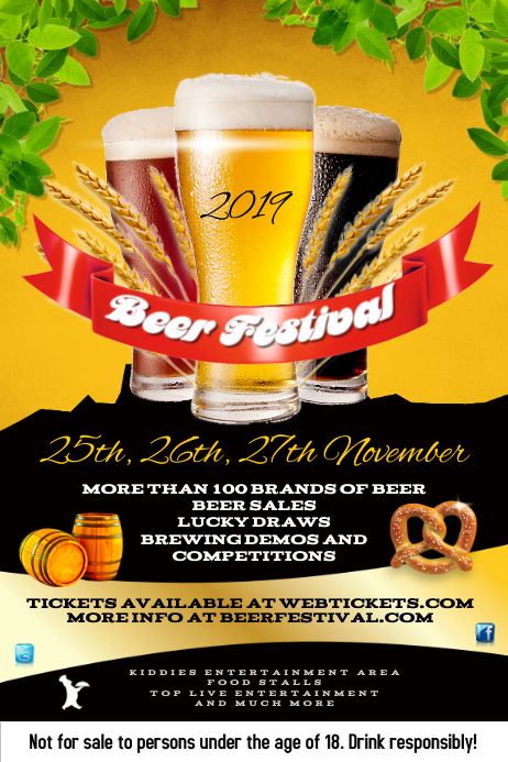 Beer Festival Poster Template Postermywall
