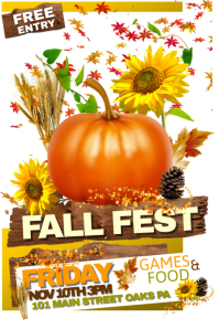 photo about Free Printable Fall Festival Flyer Templates identified as 4,390+ Tumble Pageant Customizable Style Templates