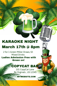 St. Pattys Karaoke Night Template