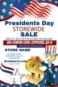 Presidents\' Day sale Template