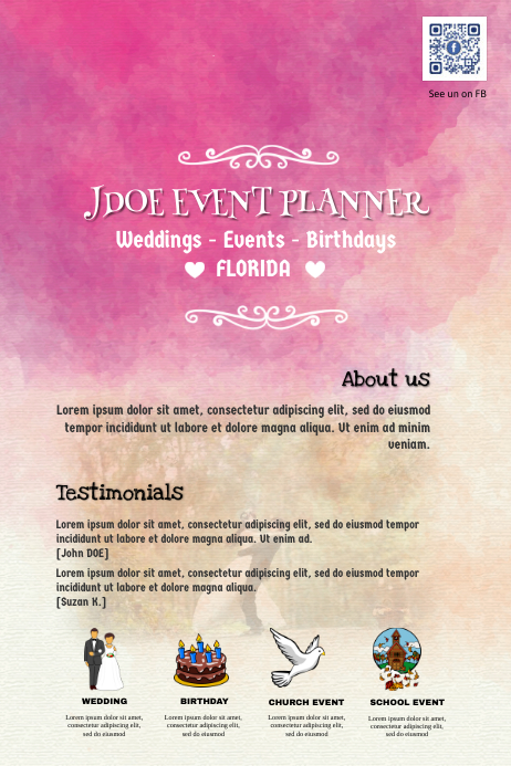 event planner flyers template postermywall