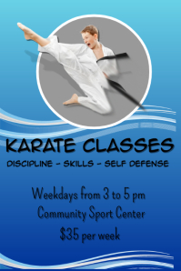 Karate Classes Poster template