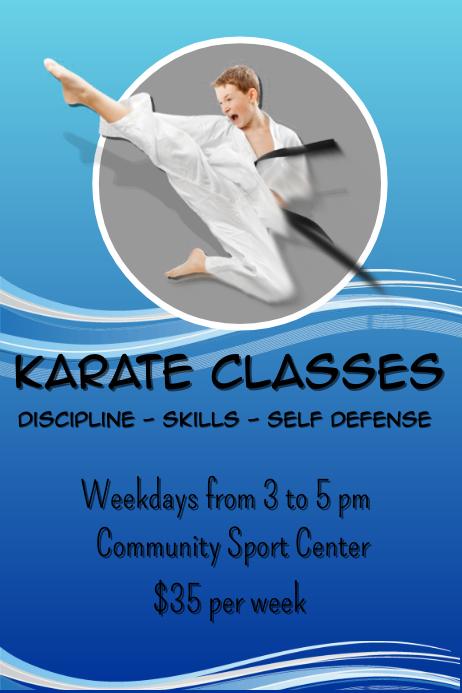 Karate Classes Poster template