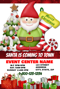 Santas Coming to Town Event Template