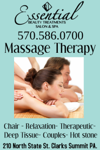 Massage therapy sign flyer