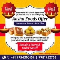 Diwali Sweets Offer 2020 Post Template