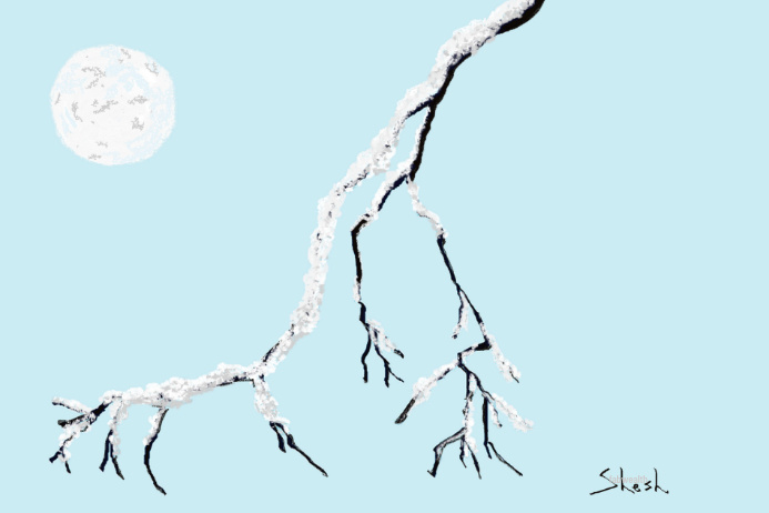 Winter Blues-Nostalgic Artistic Poster