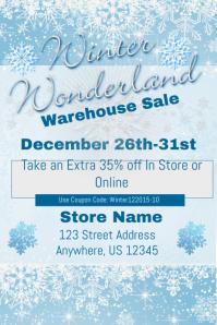 Winter Wonderland Warehouse Sales Event Template