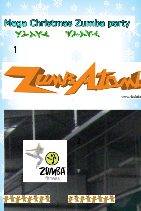 Zumba Christmas Party Images.Christmas Zumba Party Template Postermywall