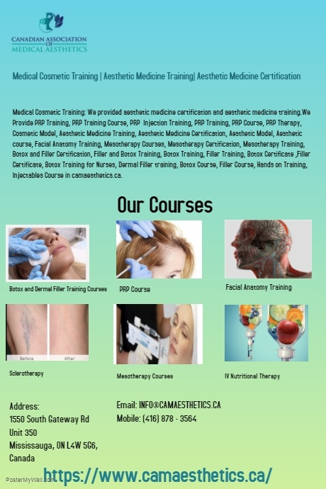 Medical Cosmetic Training | Aesthetic Medicine Training| Aesthetic Medicine Certification