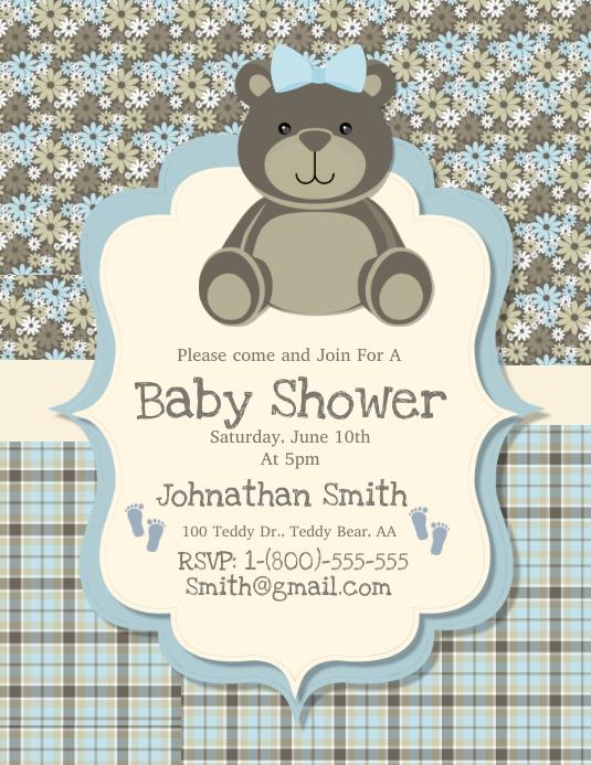 Teddy Bear Baby Announcements