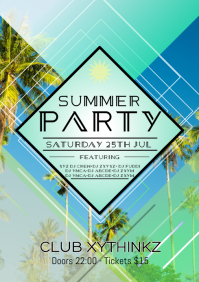 Summer Party Sommer Beach Poster Flyer Event Promo Club Bar