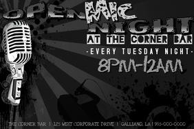 Band Bar Karaoke Open Mic Night Flyer Poster Ad Flyer Rock Music