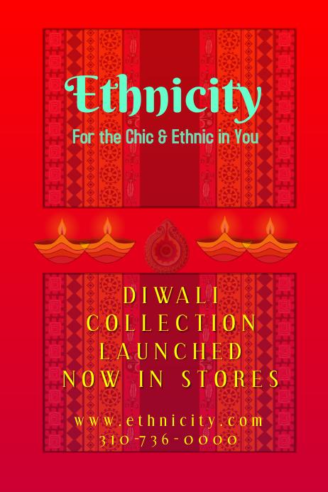 ethnic diwali sale poster template