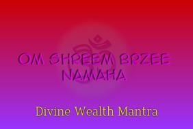 Om Sreem Brzee Namaha-Artistic Poster for Wealth & Prosperity