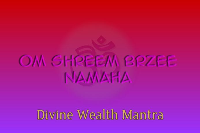 Om Sreem Brzee Namaha-Artistic Poster for Wealth