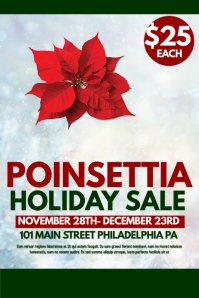 Poinsettia sale