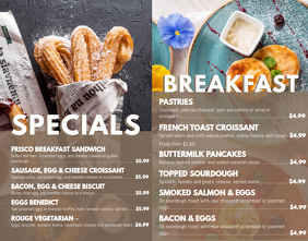Breakfast Specials Menu Template
