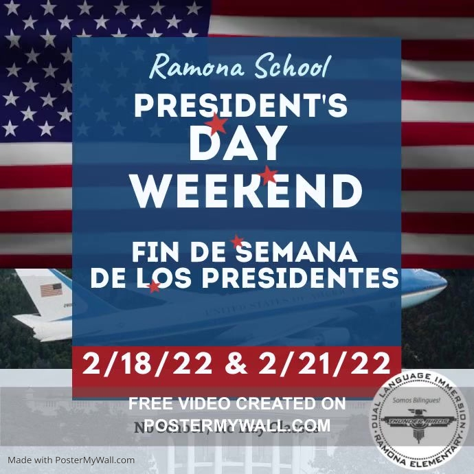 Presidents Weekend no school โพสต์บน Instagram template