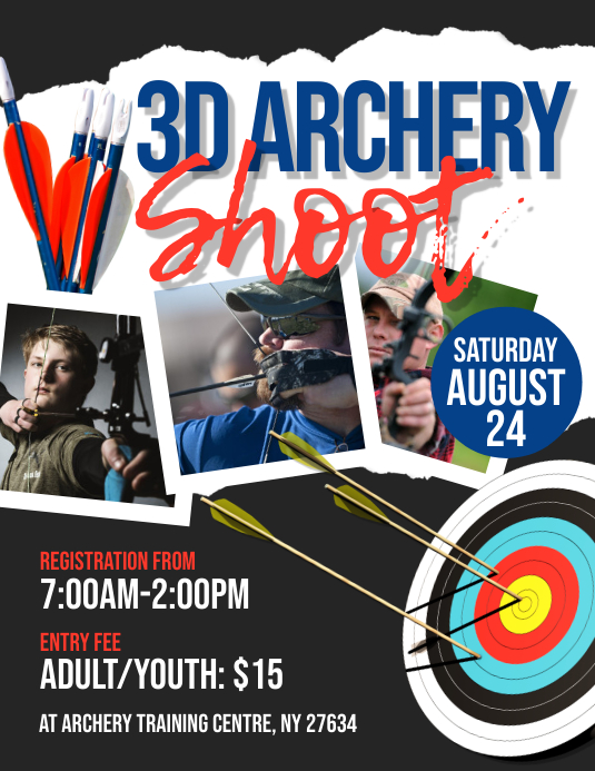 3D Archery Shoot Flyer