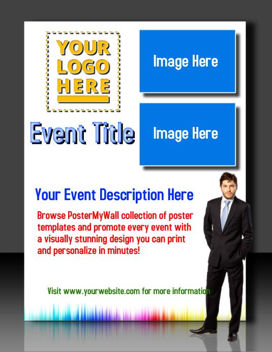 3D Event Poster Volante (Carta US) template