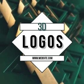 3d logo logos animated SOCIAL MEDIA TEMPLATE Square (1:1)