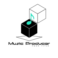 3D Musical Notes Cube Music Producer Logo template