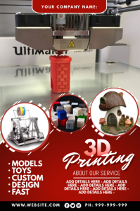3D Printing Poster Póster template