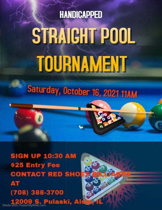 pool league tournament flyer template