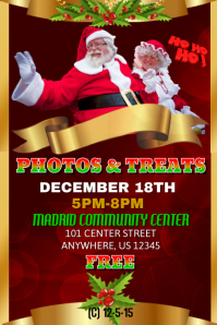 Photos and treats with Santa template