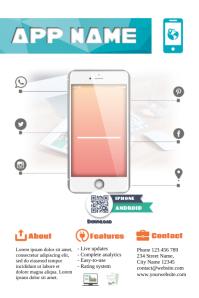 Mobile app promotion flyer template