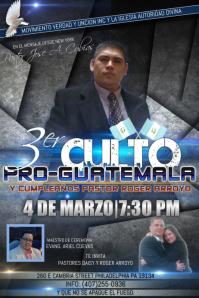3er Culto Pro Guatemala
