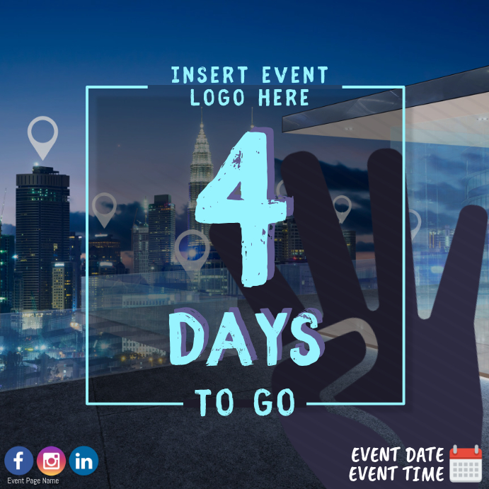 4 Days To Go Countdown Event Template