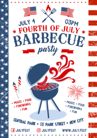 4 JULY BBQ POSTER A4 template