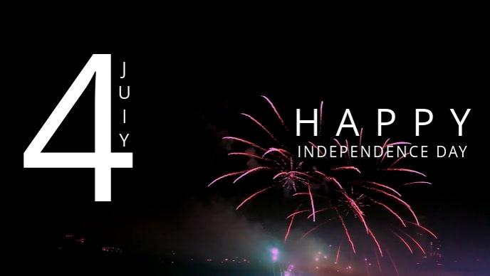 4 july poster Facebook-omslagvideo (16: 9) template