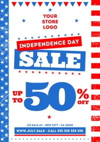 4 JULY SALE POSTER A4 template