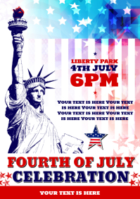 4 of JULY POSTER A4 template