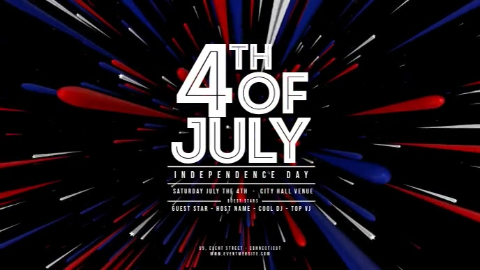 4 th of July (3D trails coming) 1920x1080 Facebook Cover Video (16:9) template